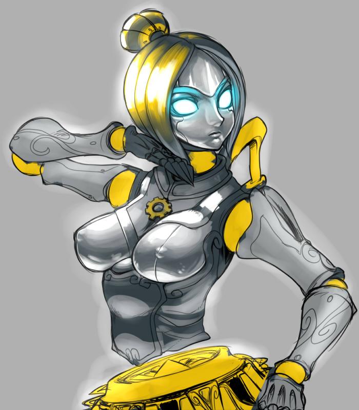 Orianna -sexy blonde robot