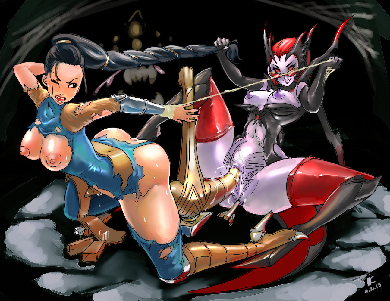 Vayne and elise hentai