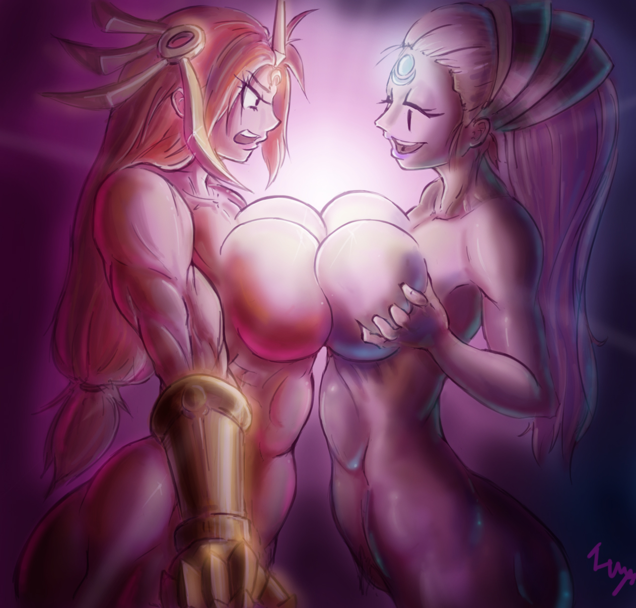 Diana and leona crazy big boobs