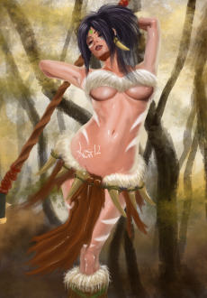 Nidalee sexy in the jungle