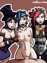 Caitlyn, Jinx and Vi