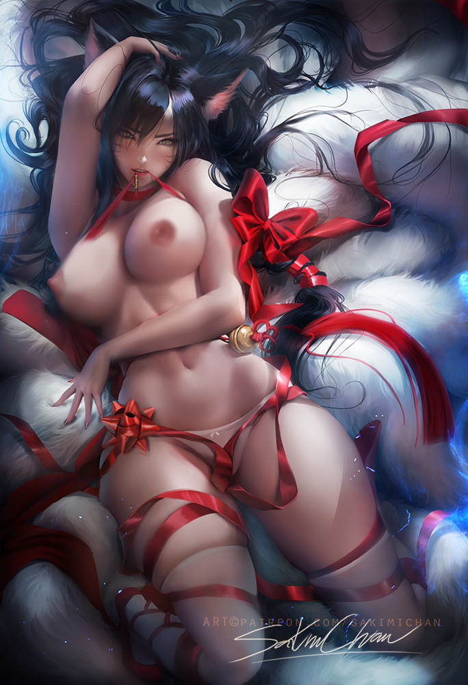 2643232 - Ahri League_of_Legends sakimichan