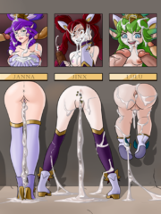 Ahri, Janna, Jinx, Lulu, Lux, Miss Fortune, Poppy, Soraka and Syndra