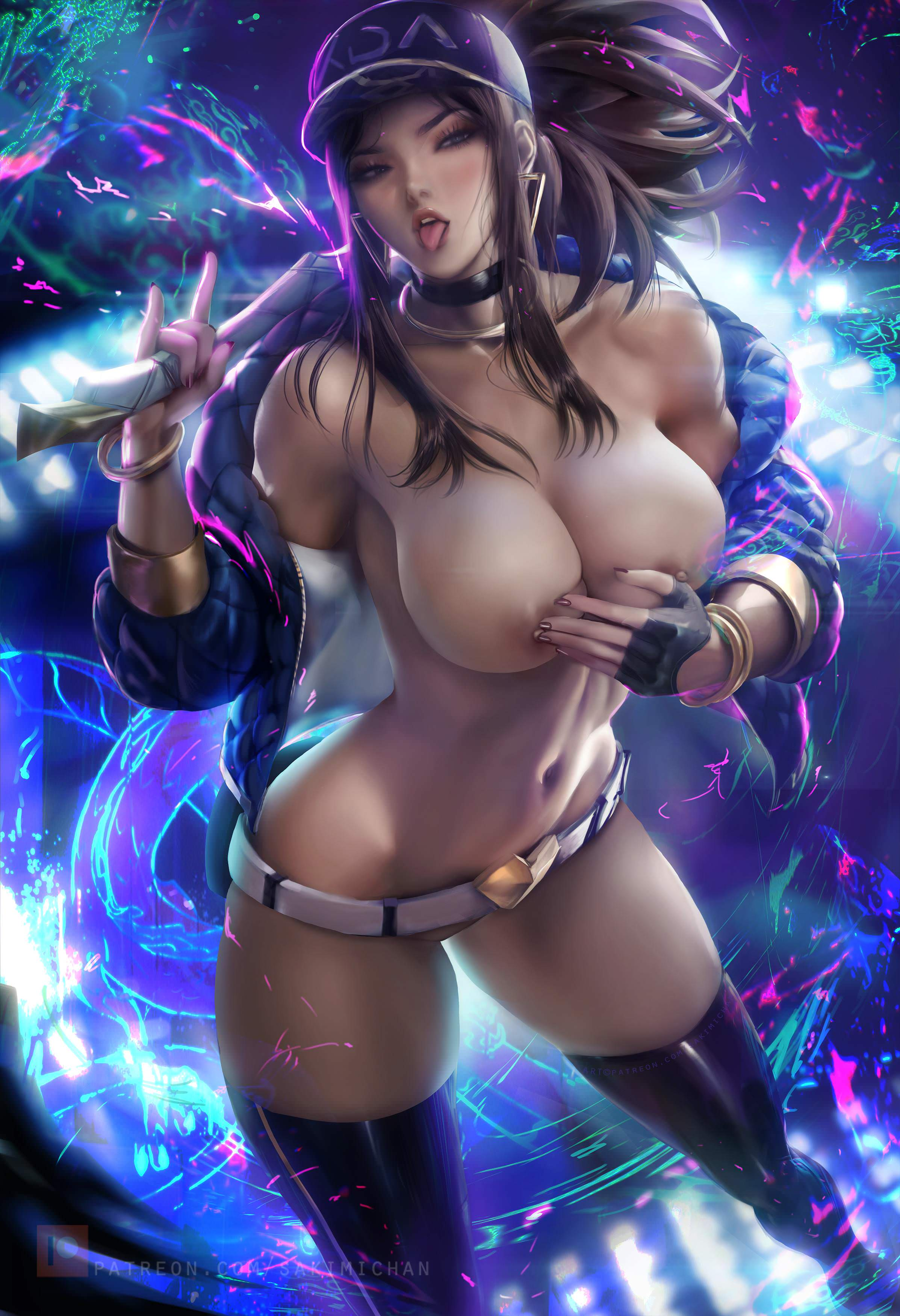 2866060 - Akali KDA League_of_Legends sakimichan