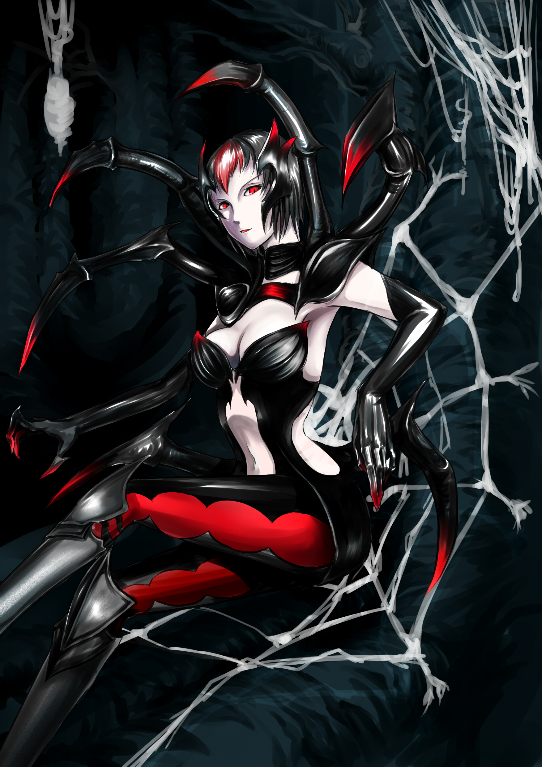 elise in the spider web