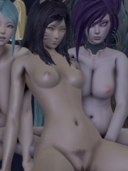Ahri, Morgana and Sona